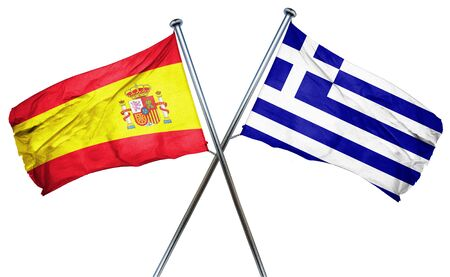 spanish flag: Spanish flag combined with greek flag