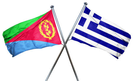 treaty: Eritrea flag combined with greek flag Stock Photo