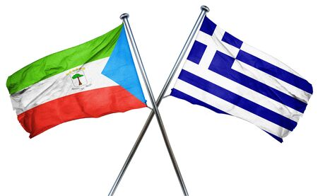 isolation backdrop: Equatorial guinea flag combined with greek flag