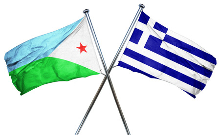 treaty: Djibouti flag combined with greek flag