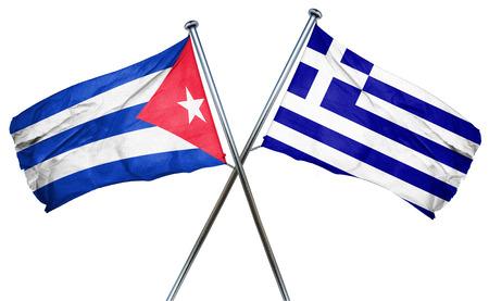 cuba flag: Cuba flag combined with greek flag