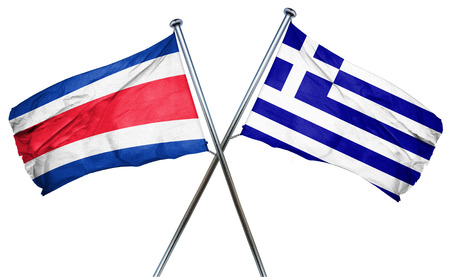 bandera de costa rica: Costa Rica flag combined with greek flag