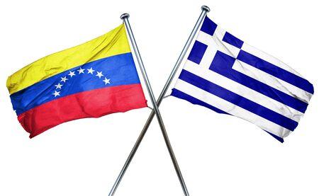 bandera de venezuela: bandera de Venezuela combina con bandera griega Foto de archivo