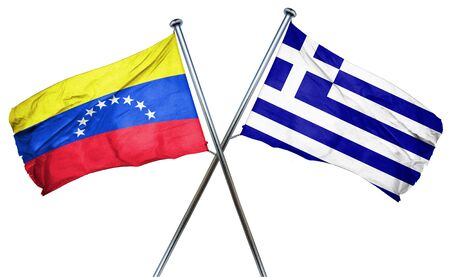 venezuela: Venezuela flag combined with greek flag Stock Photo