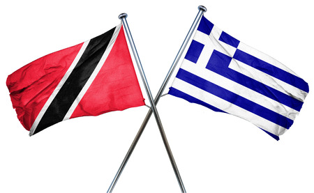 trinidad and tobago: Trinidad and tobago flag combined with greek flag Stock Photo