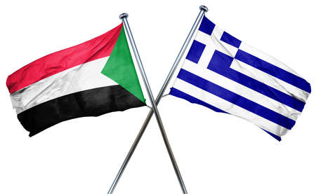 treaty: Sudan flag combined with greek flag