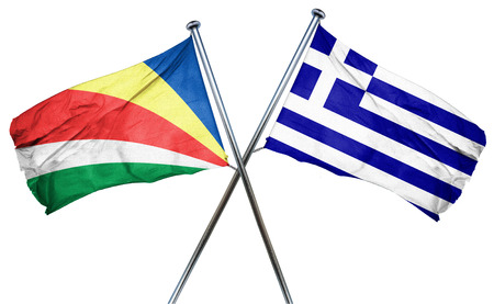 treaty: seychelles flag combined with greek flag