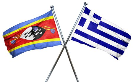 swaziland: Swaziland flag combined with greek flag Stock Photo