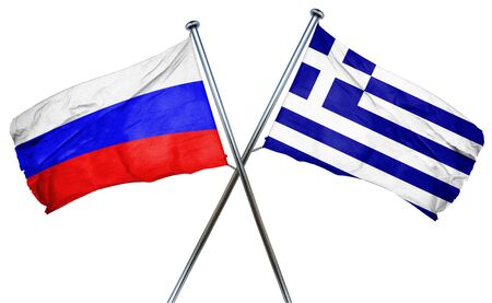 combined: Russia flag combined with greek flag