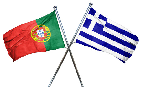 treaty: Portugal flag combined with greek flag