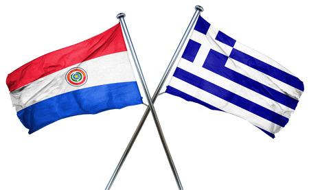 bandera de paraguay: bandera de Paraguay combina con bandera griega Foto de archivo