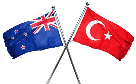 turkey flag: New zealand flag combined with turkey flag Stock Photo