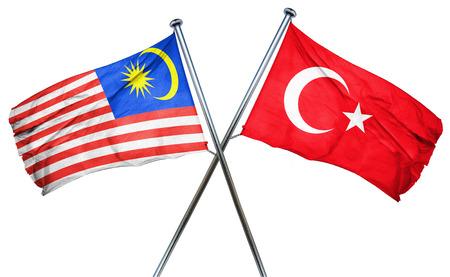 isolation backdrop: Malaysia flag combined with turkey flag