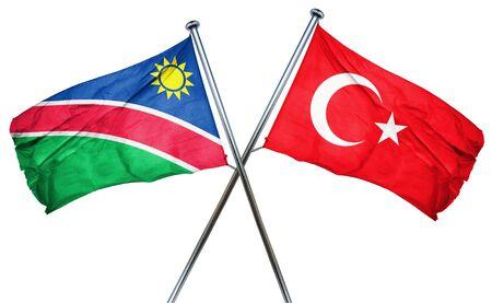 turkey flag: Namibia flag combined with turkey flag Stock Photo