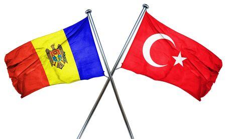 moldovan: Moldova flag combined with turkey flag Stock Photo