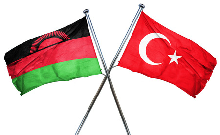 combined: Malawi flag combined with turkey flag