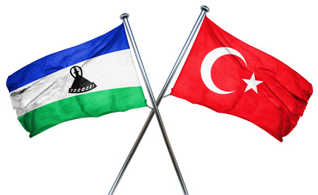 combined: Lesotho flag combined with turkey flag