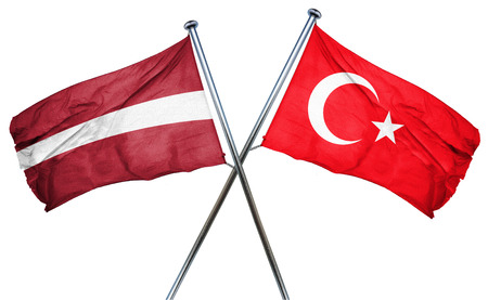 latvia flag: Latvia flag combined with turkey flag
