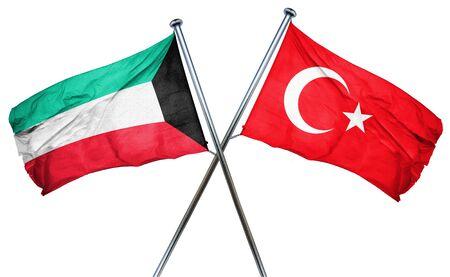 turkey flag: Kuwait flag combined with turkey flag Stock Photo