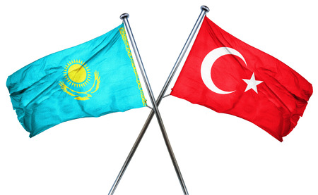 combined: Kazakhstan flag combined with turkey flag