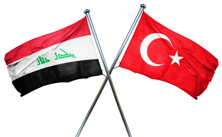 combined: Iraq flag combined with turkey flag