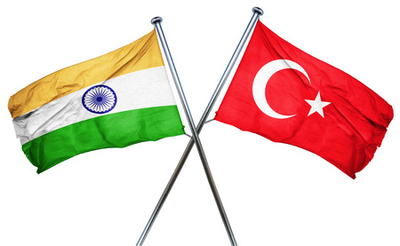 combined: India flag combined with turkey flag