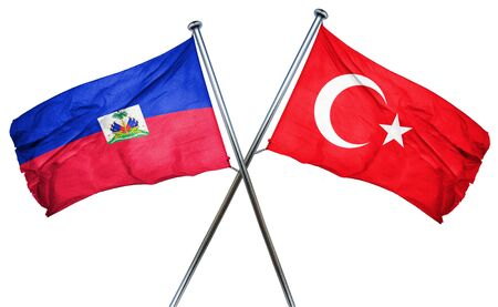 combined: Haiti flag combined with turkey flag