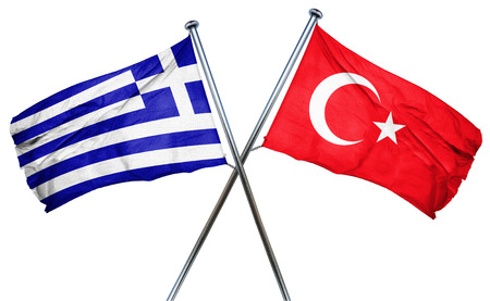 greece flag: Greece flag combined with turkey flag