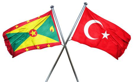 turkey flag: Grenada flag combined with turkey flag