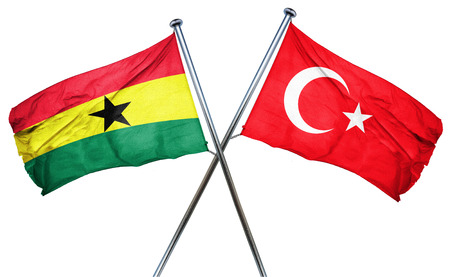 combined: Ghana flag combined with turkey flag