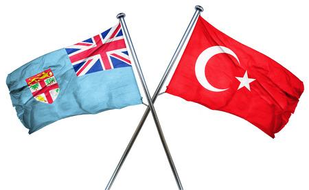 turkey flag: Fiji flag combined with turkey flag Stock Photo