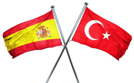 spanish flag: Spanish flag combined with turkey flag