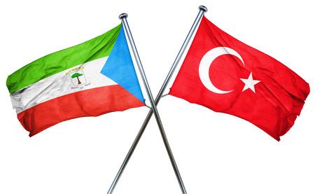 turkey flag: Equatorial guinea flag combined with turkey flag Stock Photo