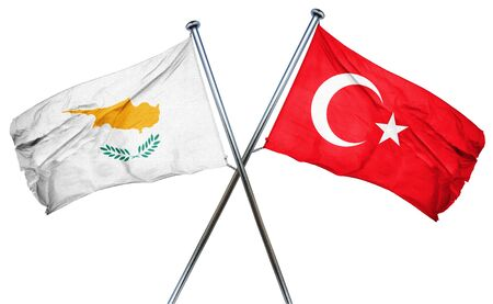 combined: Cyprus flag combined with turkey flag