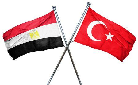turkey flag: Egypt flag combined with turkey flag Stock Photo