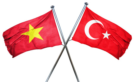 isolation backdrop: Vietnam flag combined with turkey flag