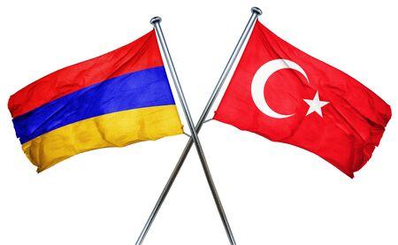 turkey flag: Armenia flag combined with turkey flag