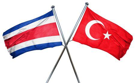 bandera de costa rica: bandera de Costa Rica combinado con la bandera de pavo
