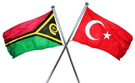 isolation backdrop: Vanatu flag combined with turkey flag