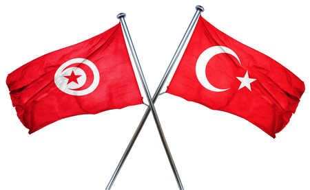 combined: Tunesia flag combined with turkey flag
