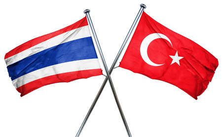isolation backdrop: Thailand flag combined with turkey flag