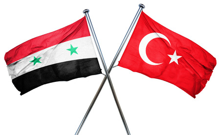 turkey flag: Syria flag combined with turkey flag