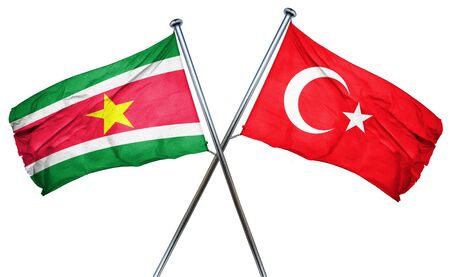 treaty: Suriname flag combined with turkey flag