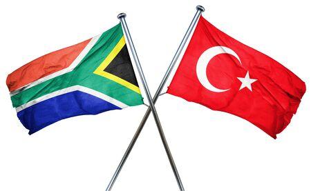 drapeau de l'afrique du sud combinée avec la dinde drapeau