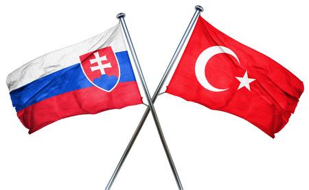 slovakia flag: Slovakia flag combined with turkey flag