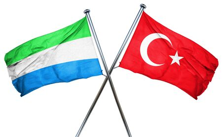 sierra leone: Sierra Leone flag combined with turkey flag