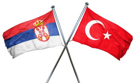 serbia flag: Serbia flag combined with turkey flag