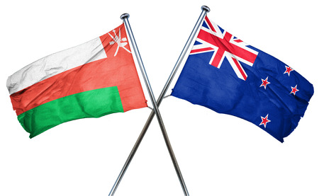 combined: Oman flag combined with new zealand flag