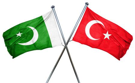 pakistan flag: Pakistan flag combined with turkey flag