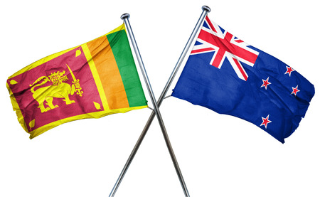treaty: Sri lanka flag combined with new zealand flag Stock Photo